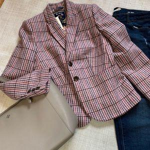 Boden - Pink British Tweed By Moon Jacket